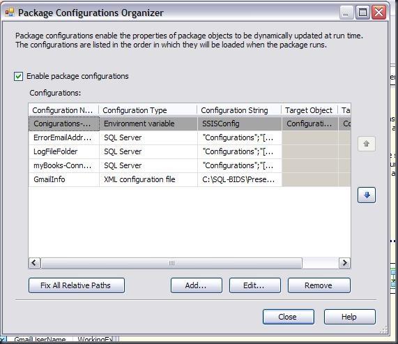 ConfigurationsOrganizer