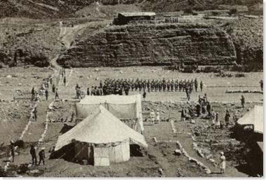 Afghan Delegation at British Outpost